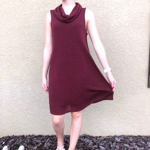 Cowlneck sleeveless dress